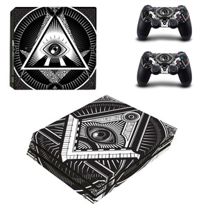 Image 4 - Eye of Providence PS4 Pro Skin Sticker Decal for PlayStation 4 Console and 2 Controllers PS4 Pro Skin Sticker Vinyl