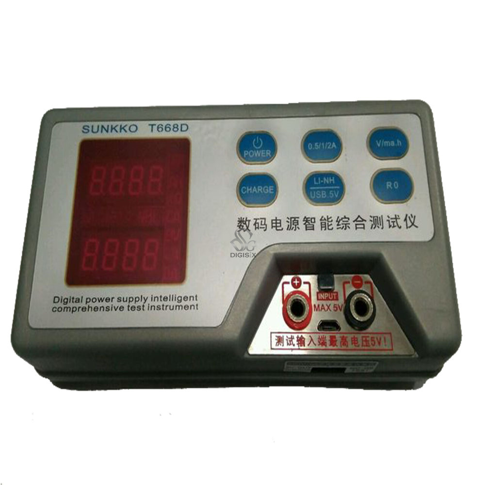 T668D rechargeable battery and mobile power resistance capacity tester 18650 resistance tester 12v zb206 v1 3 battery capacity tester resistance test 18650 mobile power lithium battery test