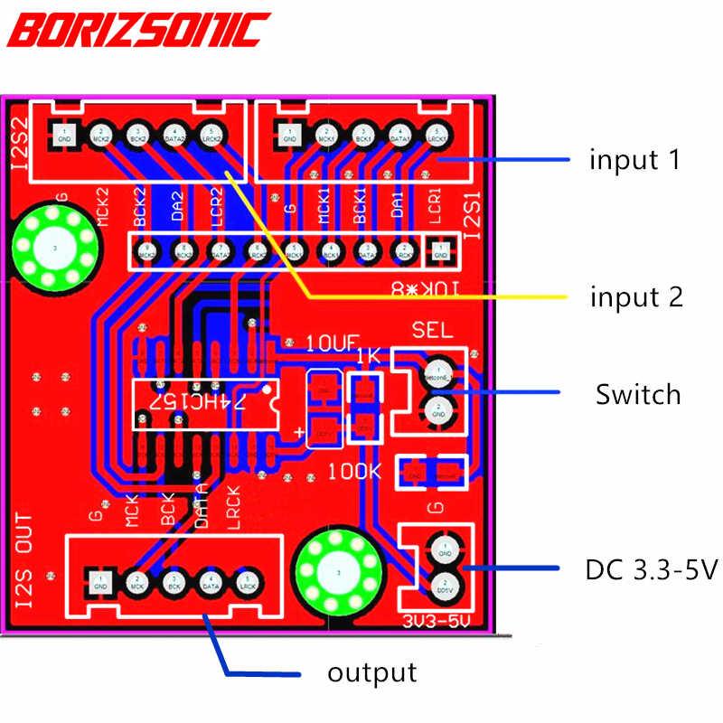 2 варианта i2s коммутатор I2S выбор входа доска 2 варианта iis вход выбрать 1 способ выхода
