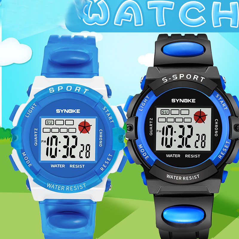 Child Waterproof Multifunction Watch Student Sport LED Digital Practical Outdoor Wrist Watches LXH