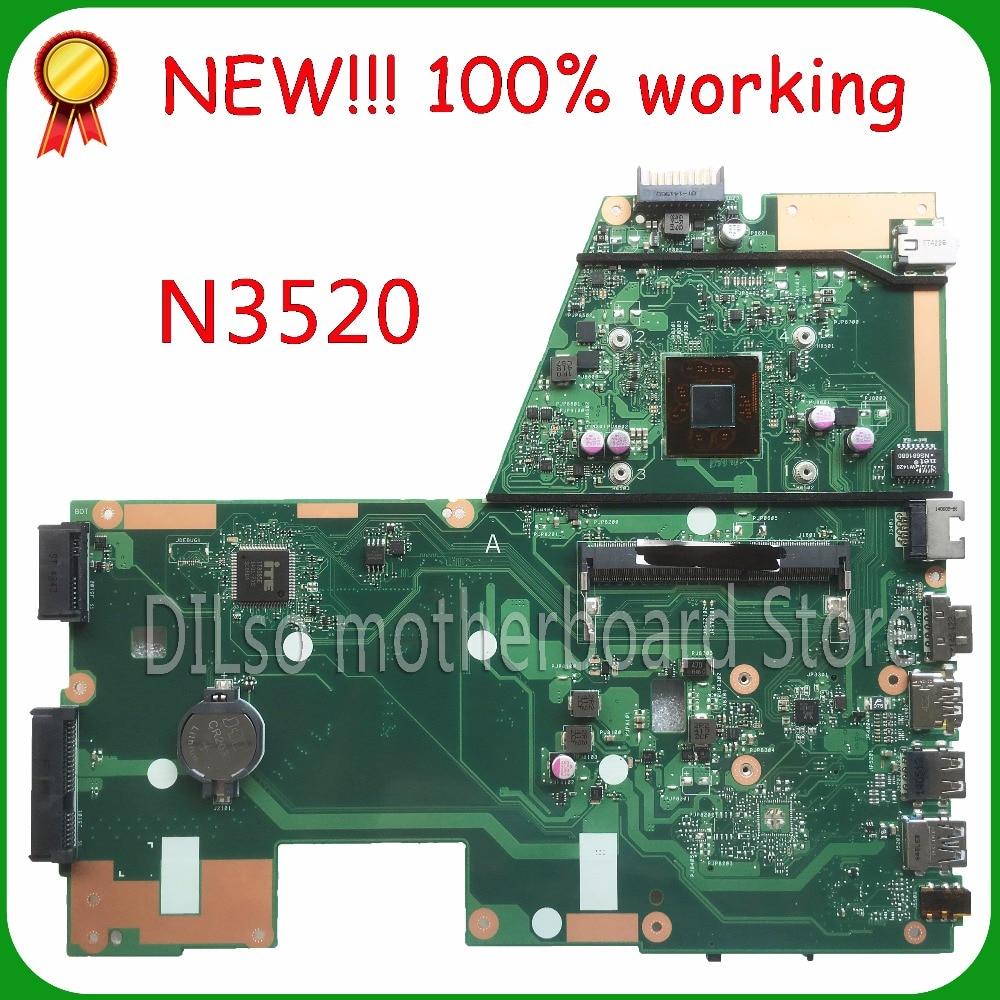 KEFU X551MA For ASUS X551MA Laptop Motherboard N3520U X551MA motherboard 90NB0480-R00100 REV2.0 Test все цены