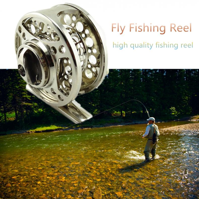 Full Metal Die Casting 60# 2+1BB 1:1 Fly Fishing Reel Fishing Tackle Raft Ice Fishing Reel