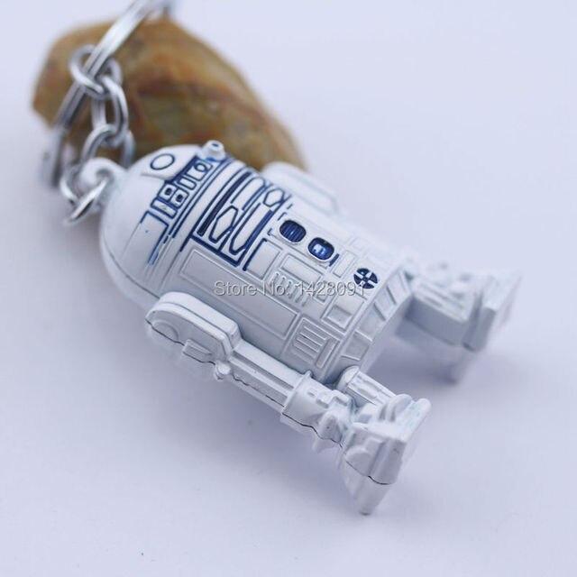 2015 new star wars llavero y clave del anillo 3d R2-D2 llavero para las teclas