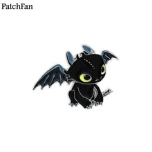 e4ddaffa5dd 20pcs lot Patchfan How to Train Your Dragon Toothless Night Fury Zinc pins  para backpack clothes bag hat badges brooches A1296