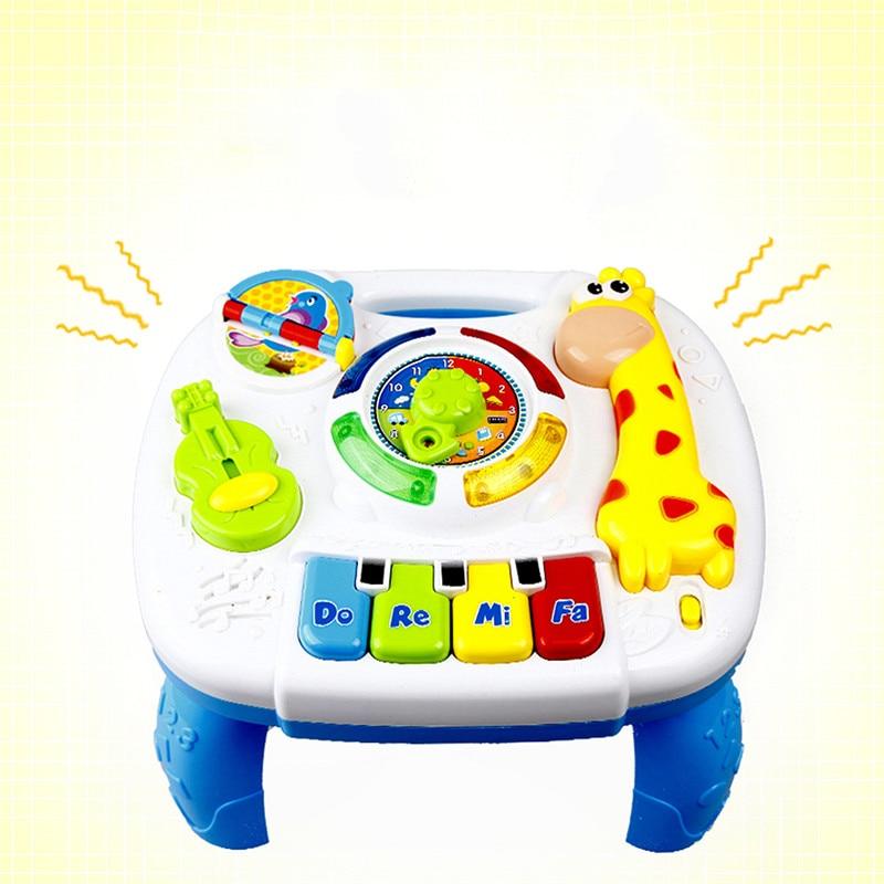 Baby Muziek Tafel Speelgoed Kinderen Leren Studie Spelen Speelgoed Muziekinstrumenten Educatief Speelgoed Voor Kinderen Kerstpakketten Onderwijs Shrink-Proof
