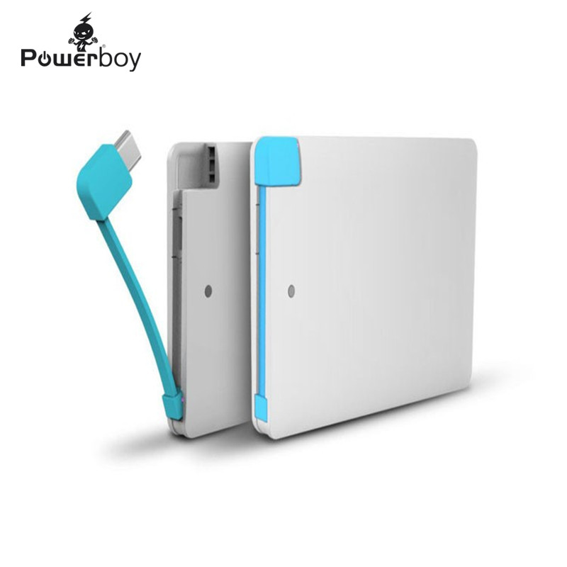 Powerboy 2600mah Powerbank Mini Card Mobile Power Bank External Portable Battery Charger for iPhone iPod iPad any 5V Device