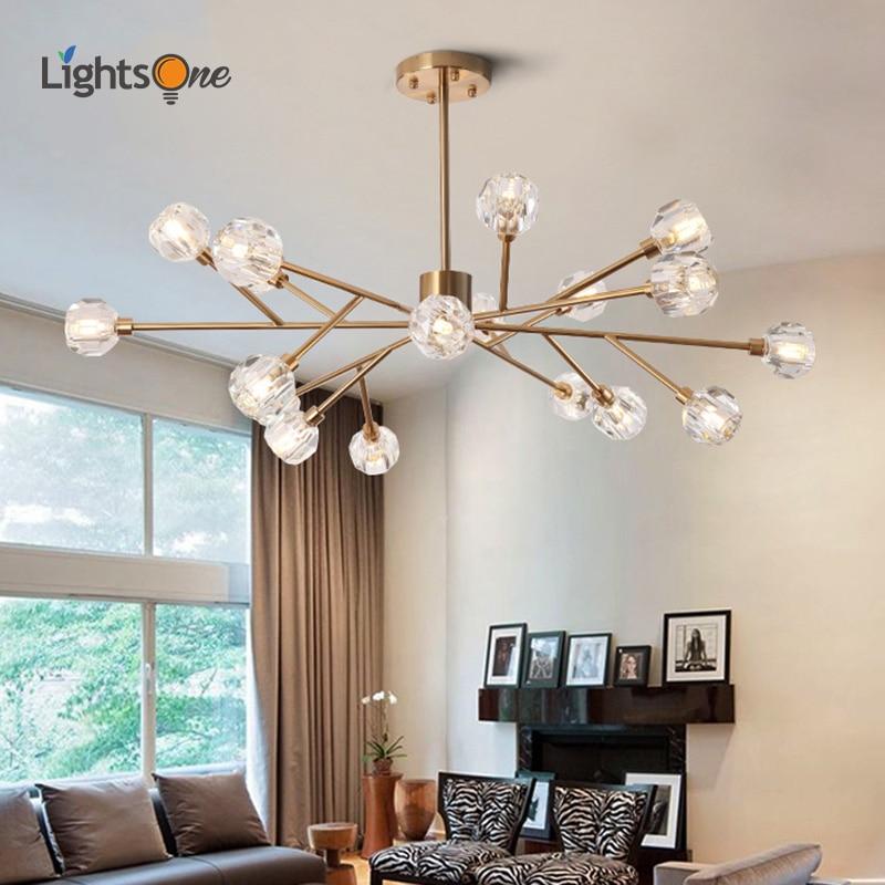 Nordic Minimalis Pohon Kristal Lampu Gantung Ruang Tamu Ruang Makan Kamar Tidur Kacang Ajaib Lampu Liontin Liontin Lampu Aliexpress