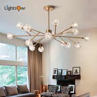 Nordic minimalistische kristal boom hanger lampen woonkamer eetkamer slaapkamer magic bean hanglampen