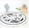 Diameter 95cm Round Shape Classic Black White Oversized  Fashion Soft Cotton Baby Blanket Baby Bedding Kids  Blanket 1pcs