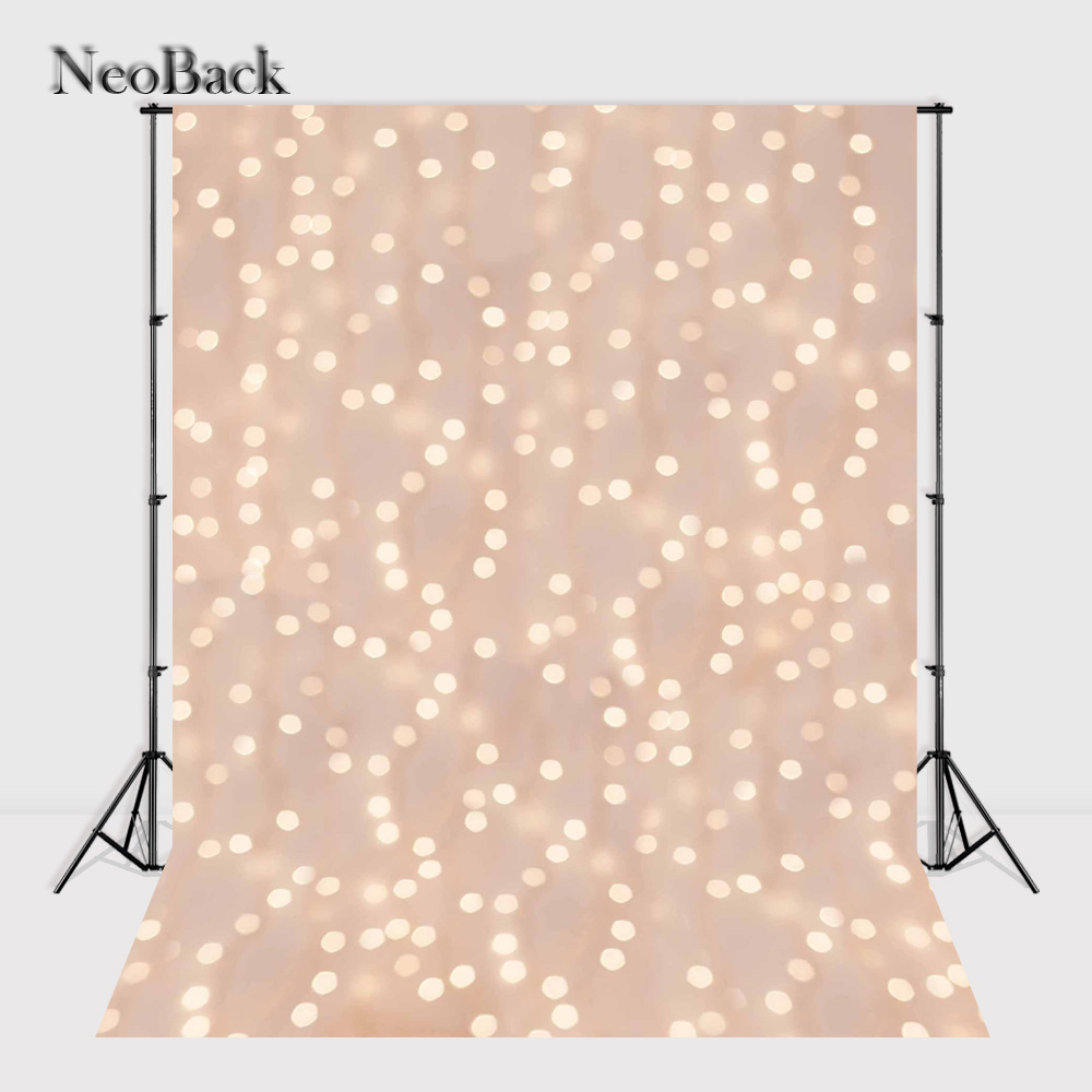 NeoBack 5x7ft vinyl Cloth Light Dots photo backgrounds new born baby children printed bokeh photo Backdrops P1176