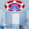 Iluminación de la Habitación del niño Luces de Techo Dormitorio Infantil de Dibujos Animados Capitán América 6LED * 3 W & 24LED * 0.3 W para la Sala de estar Decoración Del Hogar de la Lámpara