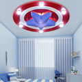 Kid's Room Lighting Captain America Ceiling Lights Child Bedroom Cartoon 6LED*3W&24LED*0.3W for Living Room Home Decoration Lamp