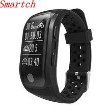 Smartch GPS смарт-браслет S908 Поддержка Smart уведомления Обнаружение активности Шагомер сердечного ритма Смарт Браслет Фитнес трекер