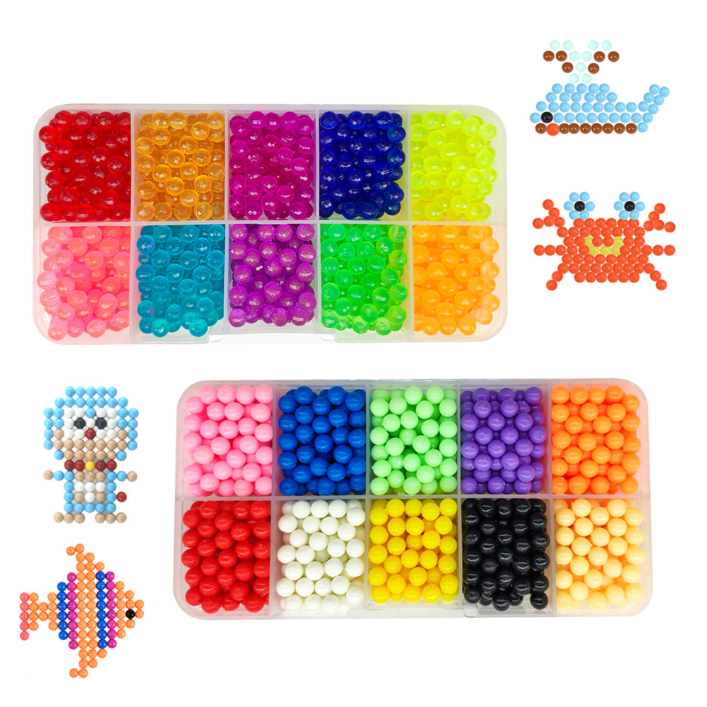 2019 DIY Water Magic Beads Animal Molds Hand Making  Beads Puzzle Kids Educational Toys For Children Spell Replenish