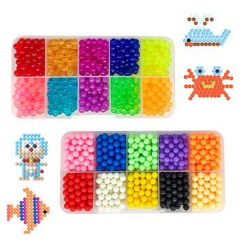 2019 DIY Water Magic Beads Animal Molds Hand Making  Puzzle Kids Educational Toys For Children Spell Replenish