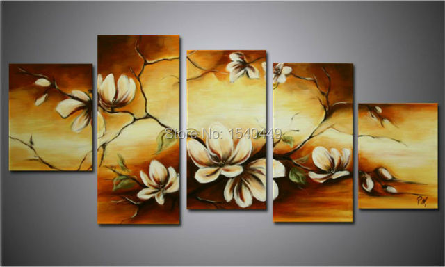 Hand Painted Hi Q Wall Art Home Bedroom Hall Decoration Abstract Flower Oil Painting