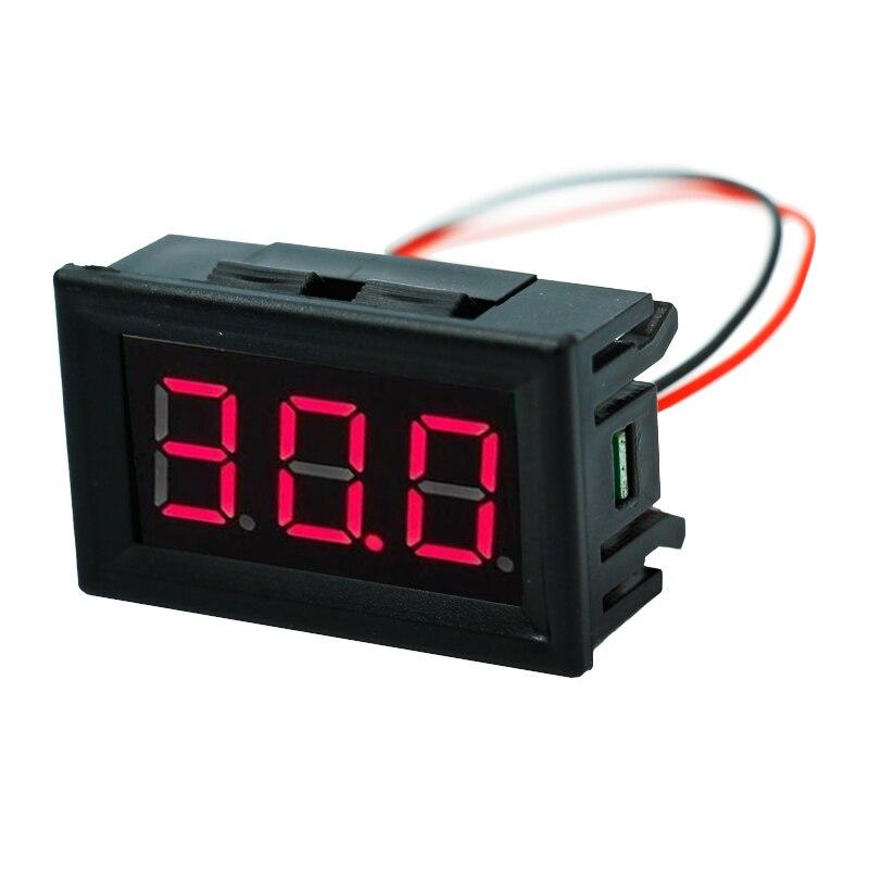 2 Wires 0.56 Inch DC 3-30V Mini Digital Voltmeter Gauge Voltage Panel Volt Meter Tester Red LED Display 40%off