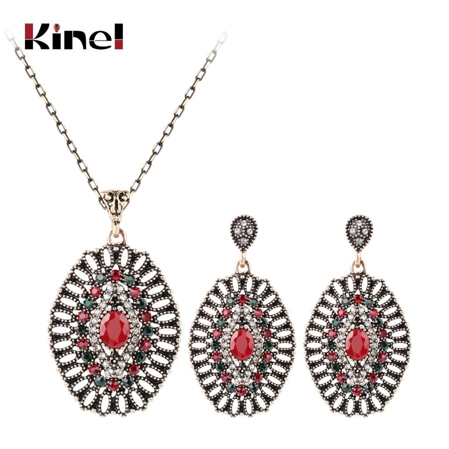 Aliexpress.com : Buy Kinel 2Pcs Vintage Wedding Jewelry ...