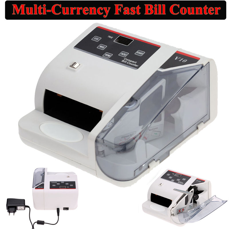 BOBLOV Bank Note Multi-currency Bill Counter Detector Money Fast Counting 100-240V W/UV Free shipping ocbc 2108 low price bill counter with uv and mg function
