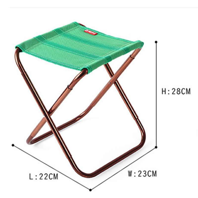 Image 3 - VILEAD 2 colors Portable Camping Stool Ultralight Folding Chair Aluminium Outdoor Picnic Beach Hike Fishing Foldable 22*23*28cm-in Camping Stools from Sports & Entertainment
