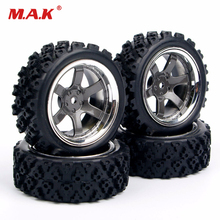 4pcs/set 1:10 RC Rubber Tires F HSP HPI Rally Wheel Rim Racing Off Race Car