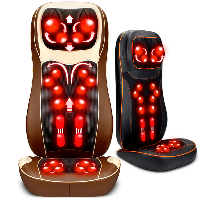 RU 110V 220V 3d Massage Chair Cushion Neck Waist Back Body Household Multifunction 3D Robot Health Massager tapping massage cushion 3d new massager whole body massage chair mat for sale