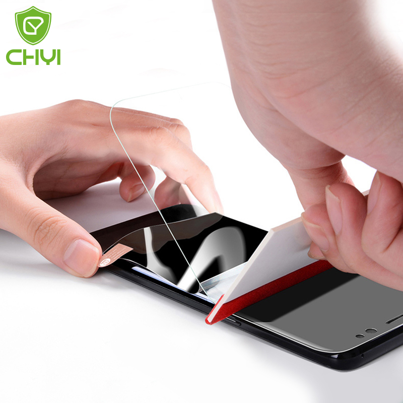 CHYI Hydrogel Film For Oneplus 7t 7 Pro Screen Protector Soft Silicon Protection Film For Oneplus 7 6 5 3 T Not Tempered Glass