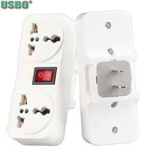 Image 3 - White Portable Universal Wall socket EU US UK extension socket 250V 6A 10A 125V power converter plug Adapter with on off switch