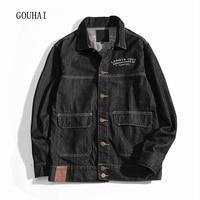 Denim Jacket Men Bomber Jackets 2017 Autumn Winter Fashion Cotton Print Outwear Cowboy Male Jeans Jacket