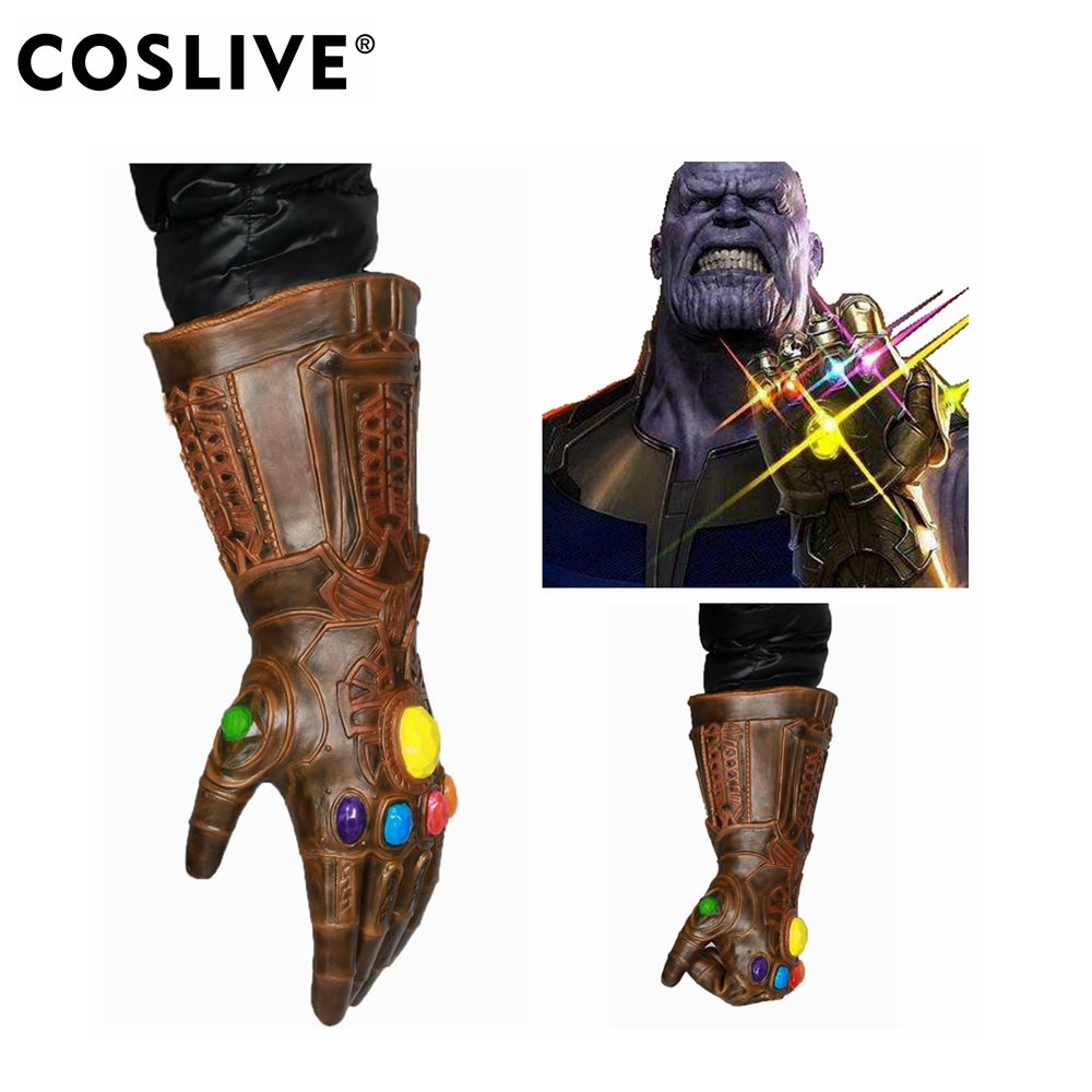 Coslive Avengers Infinity War Gauntlet Thanos Latex Gloves Cosplay Costume Accessories Props For Adult