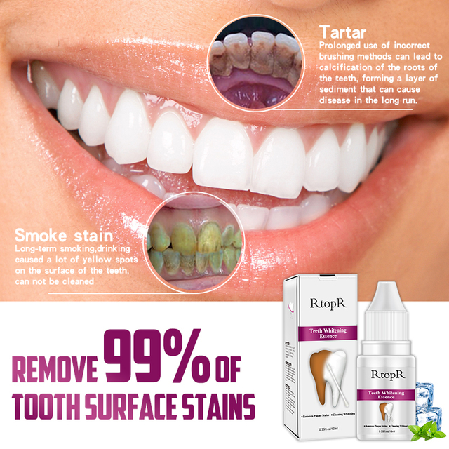 Teeth Oral Hygiene Essence Whitening Essence Daily Use Effective Remove Plaque Stains Cleaning Product teeth Cleaning Water 10ml 2