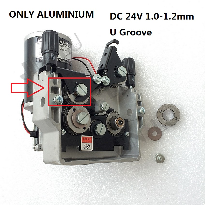 ONLY for Aluminium Wire 76ZY-04  Mig Wire Feeder Motor Feeding Machine DC24 1.0-1.2mm 2.0-21m/Min 1PK MIG MAG Welding Machine professional 24v wire feed assembly 0 6 0 8mm 023 03 detault wire feeder mig mag welding machine european connector en60974