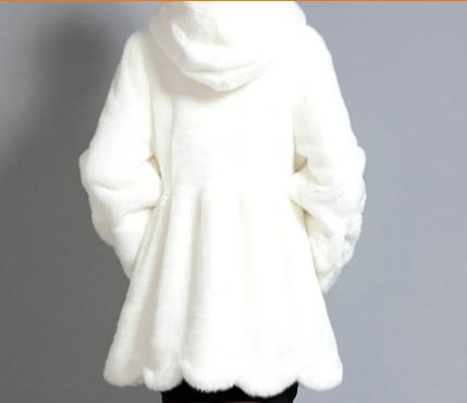 Solide De Lapin Long À Manteau En V529 Casaco Outwear 6xl 2019 Et Hiver Feminino Couleur Élégant Épais Femmes Fourrure Fausse Capuchon gtxWST