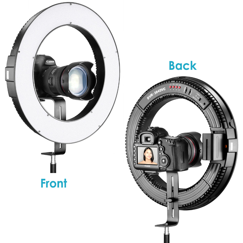 Neewer 110V DVR-384DVC 15 inches/38 cm Bi-color Dimmable SMD LED Ring Light 4 Quarters ON/OFF Switch Camera Bracket For YouTuber rekam xproof dvc 380 цифровая видеокамера