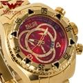 Luxe mannen kalender Grote Wijzerplaat horloges 3 sub decoratie wijzerplaten ronde Commerce business horloge USA WOLF-CUB goud zwart blauw wit
