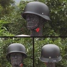 Demi casque de vélo unisexe rétro de Moto, casque de moto, demi Face allemand, casque M/L/XL, noir mat