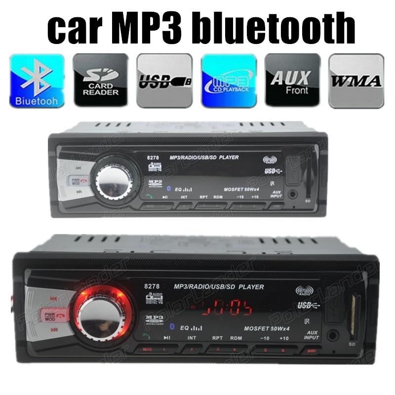 2015 nuevo 12 V coche de Radio FM estéreo MP3 reproductor de Audio Bluetooth inc