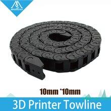 ГОРЯЧАЯ! лучший!!! 10×10 мм L1000mm Кабеля Цепной Провода Перевозчик с коннекторами для 3D Принтера Инструменты
