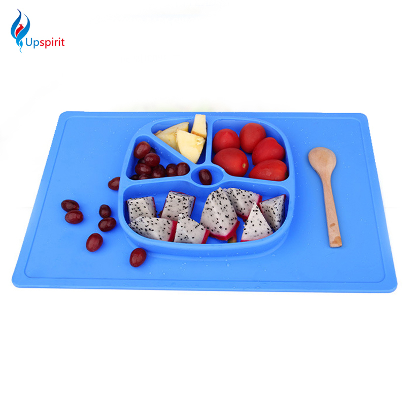 One Piece Silicone Placemat Non Slip Tableware Food Tray