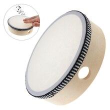 6 дюймов музыкальный Тамбурин барабан круглые ударные барабаны из овчины для детских игр деревянное кольцо прочный бубен