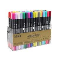 JIANWU 12 24 36 48 80Colors Set STA3110 Color Soft Brush Cartoon Scriptliner Water Mark Pen