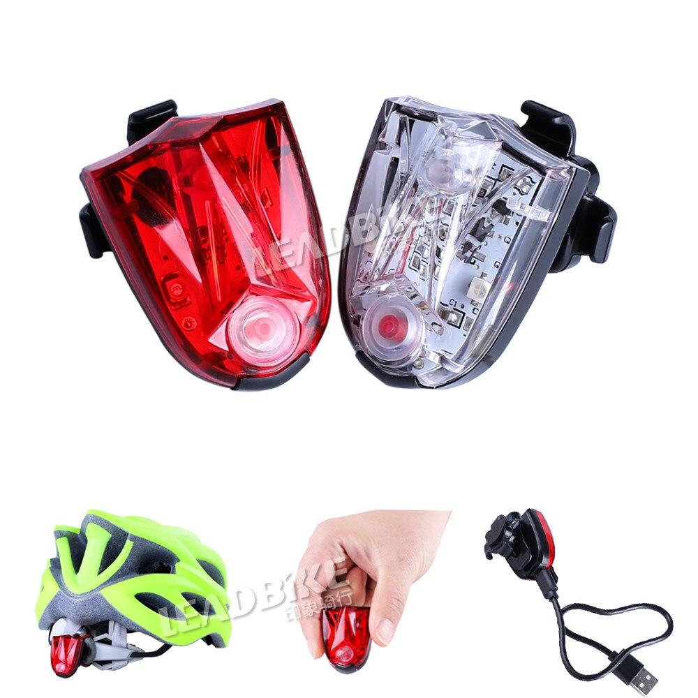 Leadbike USB dobíjecí LED jízda na koncové světlo Multifunkční ABS vodotěsné bezpečnostní světlo Bike blikající přilba světlo