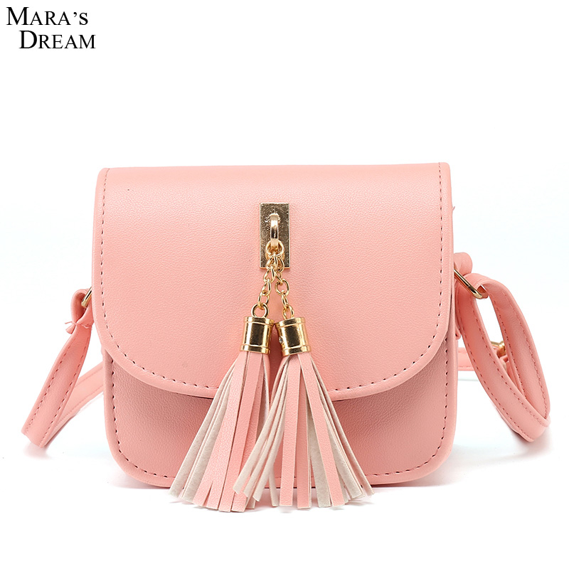 Fashion 2017 Small Chains Bag Women Candy Color Tassel Messenger Bags Female Handbag Shoulder Bag Women Bag