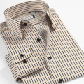 Plus Size 37-46 New 2016 Spring Autumn Men Casual Dress Shirt Stripe Long Sleeve Fashion Shirts