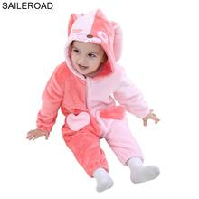 Купить с кэшбэком SAILEROAD Rabbit Children's Clothing Pajamas Toddler Sleeping Pigama for Babygirl Blanket Sleepers Baby Boy Sleepers Clothing
