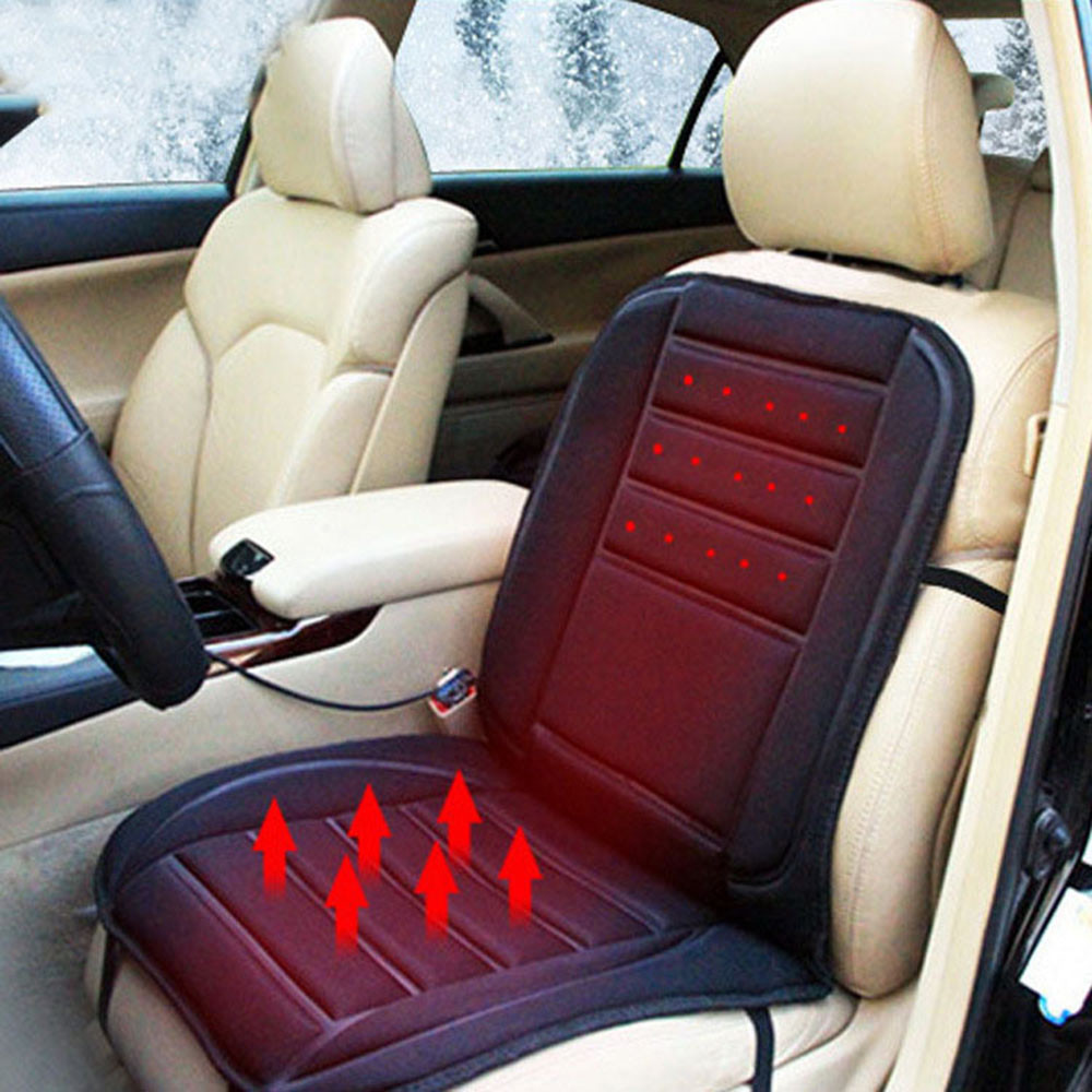 AUTO 12 V Winter Heating Pad Massage Cushion Monolithic Natural Pure Color Logs Manual Wood Bead Car Seat NOV 19
