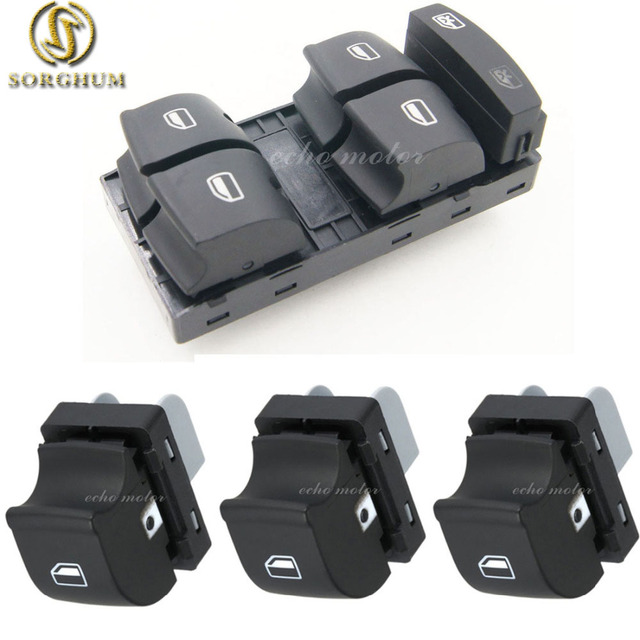 4 piezas de alta calidad ventana interruptor de Control para AUDI 2005-2012 A3 A6 S6 C6 Allroad Q7 RS6 4F0 959 855 4F0959851