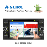 A Sure 7 Android 7 1 2 Din GPS Navigation Stereo Radio QUAD CORE 16G Car