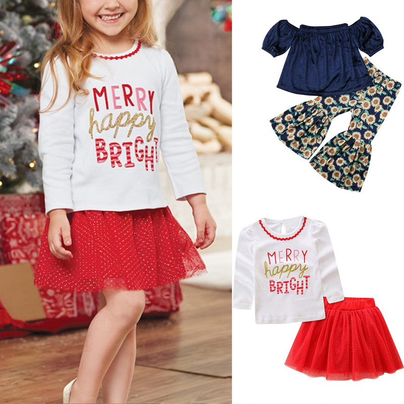 2 Pcs Summer New Girls Cover-up Beach Suits Cute Long Sleeve Top & Skirt Set Fashion Soft Girls Top & Floral Printed Pants Set