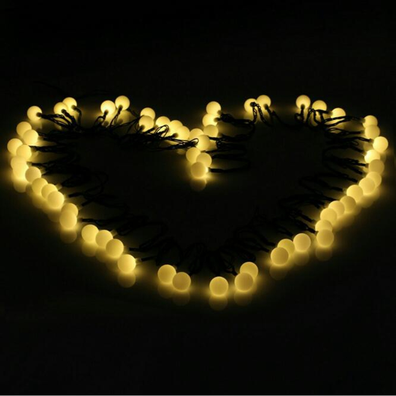 50m 100m110v/ 220V matte ball fairy tale Christmas wreath LED string party wedding new year home decoration removable christmas wreath wall sticker xmas wreath wallpaper